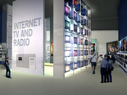 Internet, TV and radio wall
