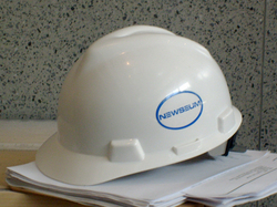 A hardhat sits idle at the Newseum, by Ginger Gibson