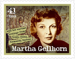 Martha Gellhorn stamp. © 2007 USPS Used with permission. All rights reserved.