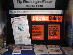 The Washington Times booth, By David Dinsmore